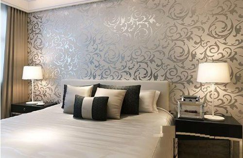 Paintable Textured Wallpaper Damask Silver Wallpaper Patterns Brick Embossed  New