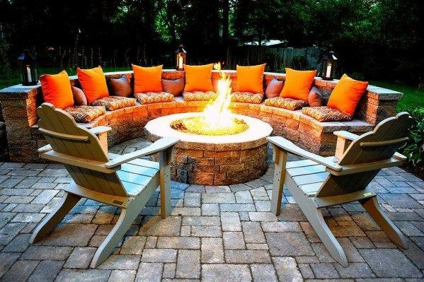 Unique Fire Pit Seating Home Ideas Backyard Seatingidea Outdoor Outdoor Fire Pit Designs Fire Pit Seating Backyard Fire