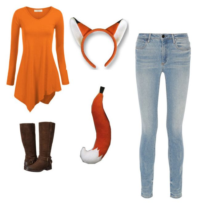 """fox costume"" by trisha-cornelsen ❤ liked on Polyvore featuring Alexander Wang and Clarks"