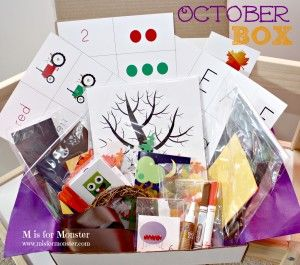 Get weekly themed learning activities for your toddler or preschooler delivered right to your door! All supplies included!! www.misformonster.com