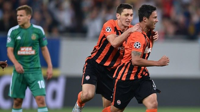 Shakhtar advance after surviving Rapid storm  Shakhtar Donetsk 2-2 Rapid Wien
