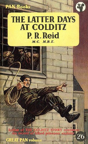 The Latter Days at Colditz by P.R. Reid. Vintage Pan paperback book cover.