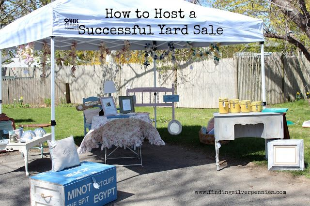 The Perfect Day for (Yard) Saling - Finding Silver Pennies More great ideas for hosting the best yard sales. I like it all!