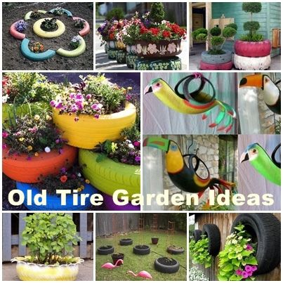 diy ideas for used tyres how to diy old tire garden ideas recycled backyard pinterest