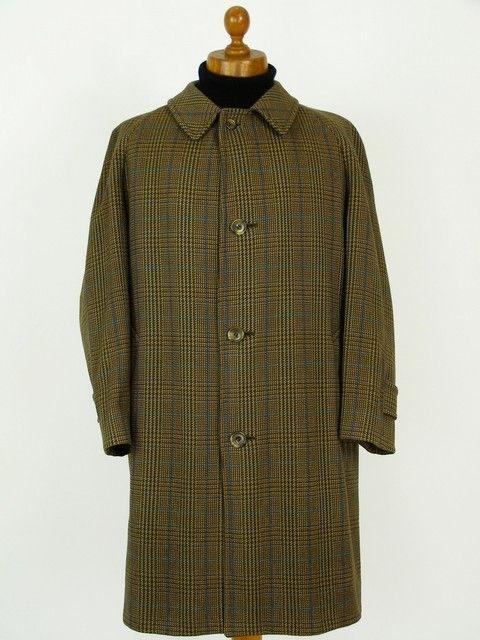 Mens Aquascutum Scottish Tweed Raglan Overcoat Classic