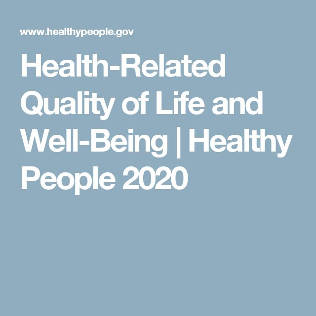Health-Related Quality of Life and Well-Being | Healthy People 2020