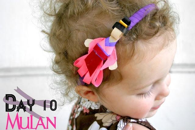 Grosgrain: Day 10: Mulan Disney Inspired Princess Ribbon Sculpture Pattern