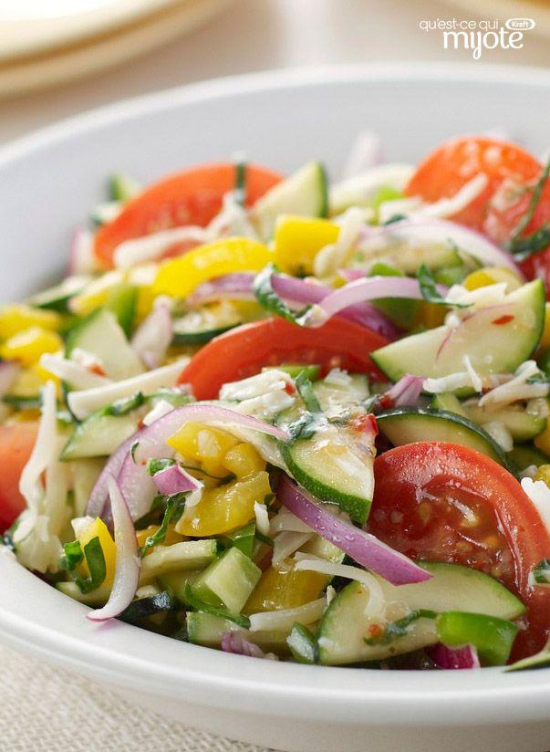 Salade méditerranéenne aux légumes marinés #recette