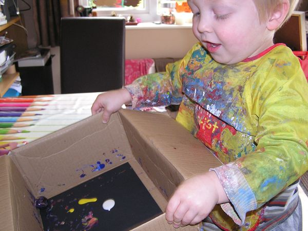 Guy Fawkes Day/Bonfire Night with great firework painting activities for kids.