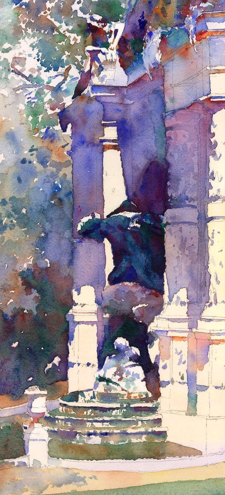 Michael Reardon WATERCOLOR Paris, France #watercolor jd