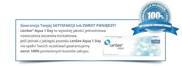 Gwarancja Satysfakcji LenSee® Aqua 1 day