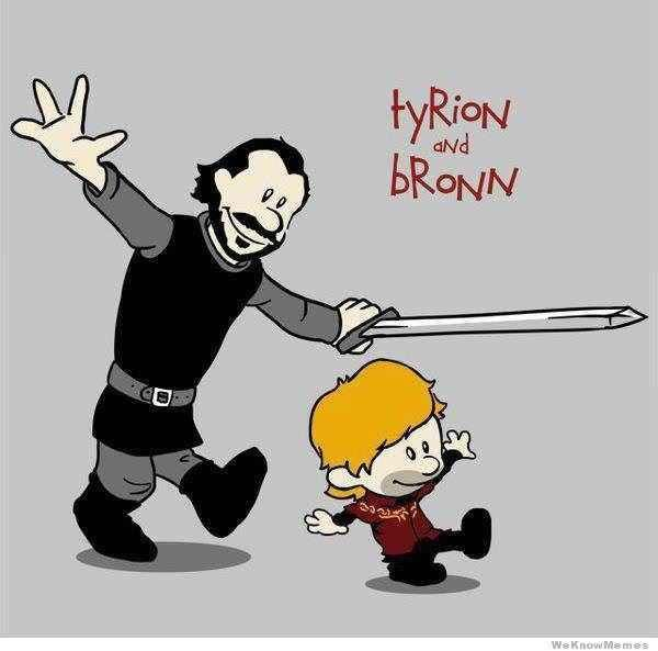 Game of Thrones (GOT) example #444: Calvin & Hobbes is listed (or ranked) 4 on the list 40+ Epic Game of Thrones Mashups You Didn't K...