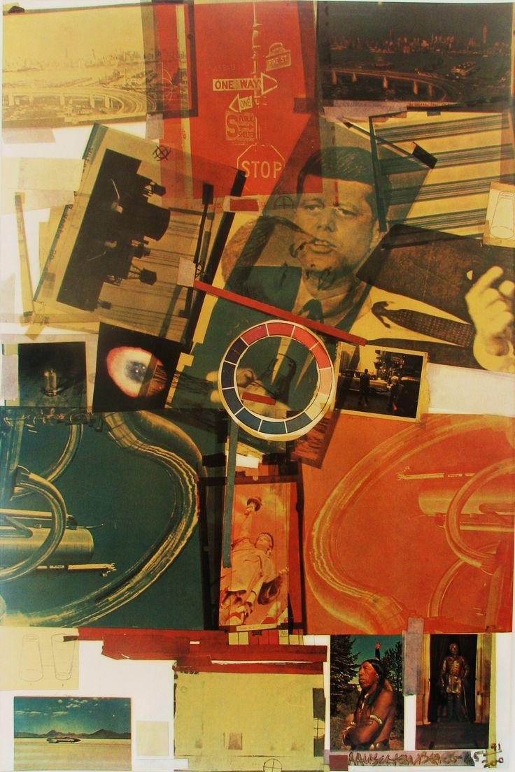 Robert Rauschenberg: Core - silk screen print  1965