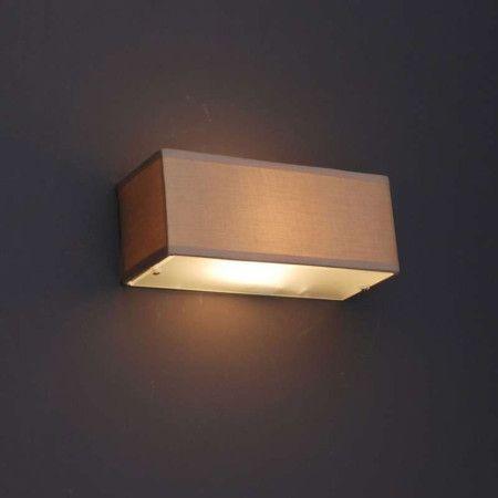 Wandlamp Drum rechthoek beige