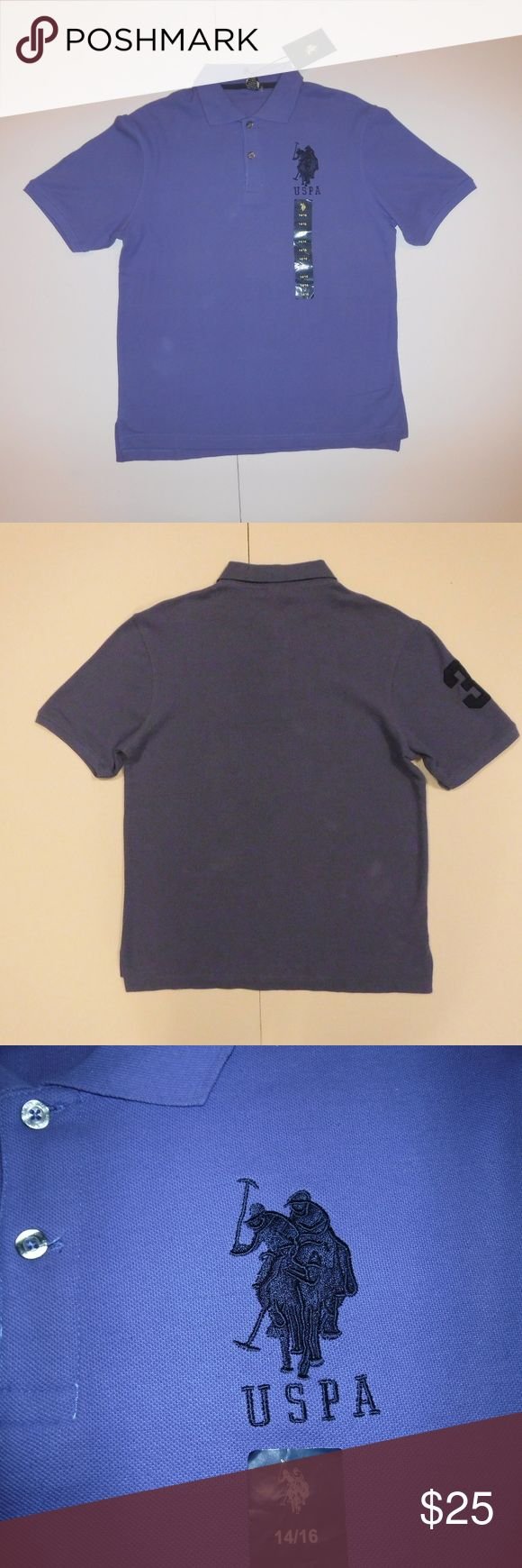"""US Polo Assn Purple Polo Shirt Boys Size 14/16 US Polo Assn By Ralph Lauren Purple Polo Shirt Boys Size 14/16  Large 3 On Right Arm  100% Cotton  New With Tags  All Measurements Posted Below are Aprox. & Taken While Laying Flat  Shoulders: 18"""" Chest: 19""""(38) Length: 26""""  Please Ask Any Questions You may Have Before Purchasing.  Smoke & Pet Free Home  Please Check Out My Other Items  Inv#30 Ralph Lauren Shirts & Tops Polos"""