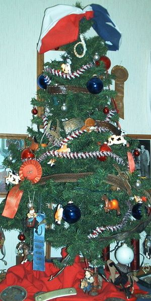 Western Christmas Tree Decorations, Cowboy, Cowgirl And Rodeo Event  Ornaments. Ideas For A Western Themed Christmas.