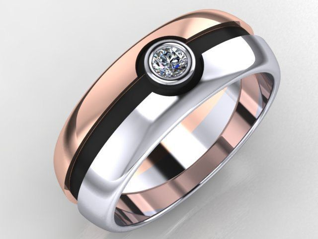 Catch the one with this Pokéball Wedding Ring