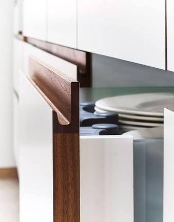 integrated kitchen handles oak - Google Search