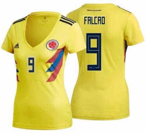 7a01825ec 2018 Women s Soccer Jersey Radamel Falcao  9  vamoscolombia  colombia   unidosporunpais World Cup