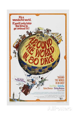 """Around the World In 80 Days, 1956, """"Around the World In Eighty Days"""" Directed by Michael Anderson reproduction procédé giclée sur AllPosters.fr"""