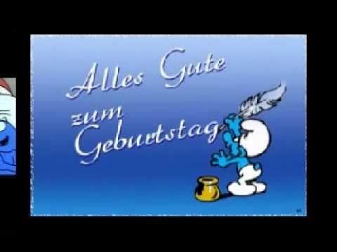 Alles Gute zum Geburtstag!!! Schlümpfe - Fred Sonnenschein / Frank Zander - YouTube