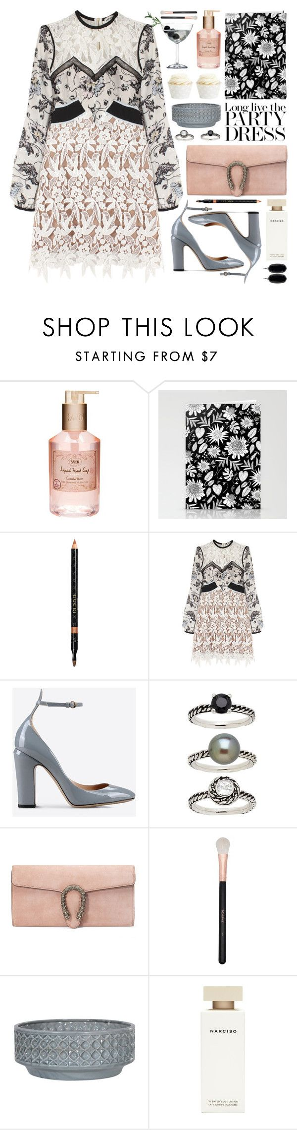 """""""party on: long sleeve dresses"""" by jesuisunlapin ❤ liked on Polyvore featuring Olive, Victoria Beckham, Gucci, self-portrait, Valentino, Honora, Morphe, Narciso Rodriguez, Kendra Scott and party"""