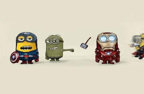 Minion Avengers Stretched Canvas by CforCel   Society6
