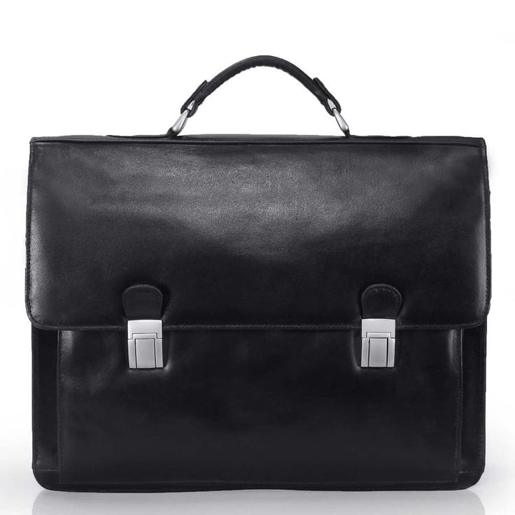 Flapover Black Leather Briefcase For Men By Brune Online At Rs 4 999