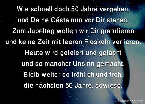 Wie Schnell Doch 50 Jahre Vergehen   Geburtstag   Alles Gute Zum Geburtstag  2016 | Sprüche