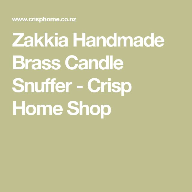 Zakkia Handmade Brass Candle Snuffer - Crisp Home Shop