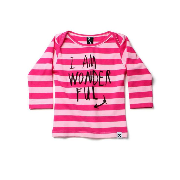 Minti LS Envelope Tee Wonderful Pink/Pink