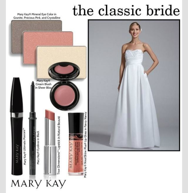 Mary Kay Classic Bridal Look! Contact me for your custom Bridal look! Nicki Strunk, nmstrunk80@gmail.com