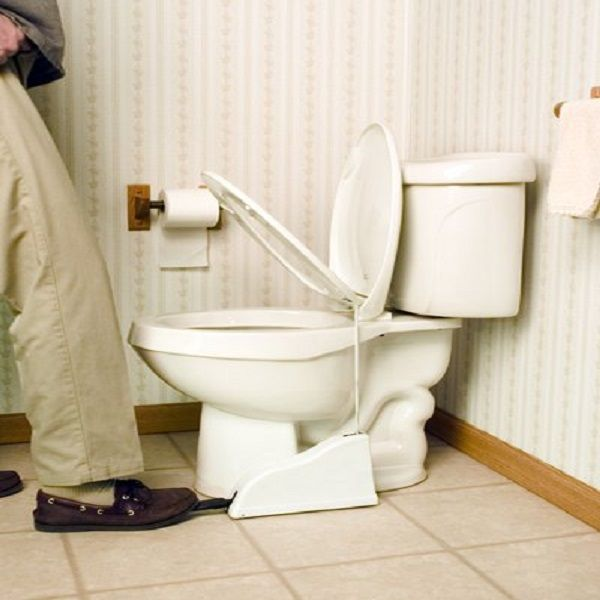 The Flipper is a hands-free toilet seat lifter that is convenient and hygienic.