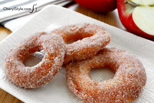 These cinnamon apple rings make a great snack or dessert - CherylStyle