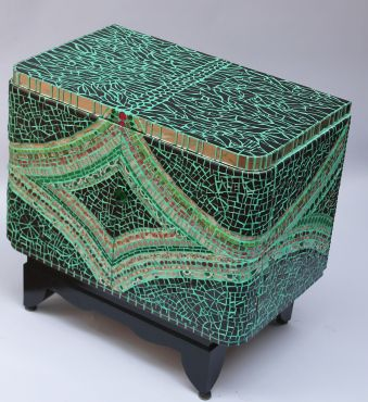 Awesome Picassiette Mosaic, Small Cabinet