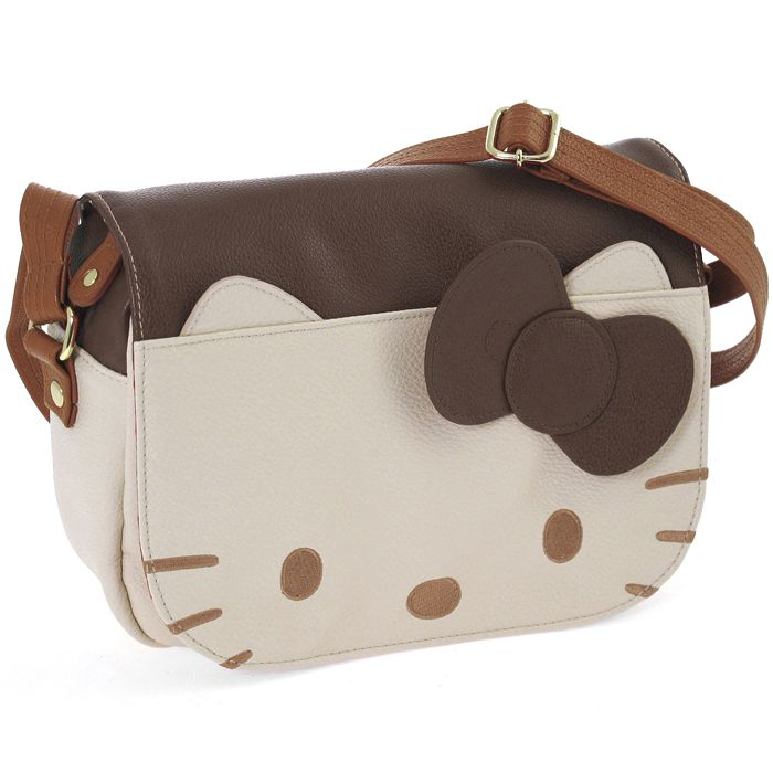 Sac bandoulière Hello Kitty - Postina brown cream - 55.90€ #kibodio