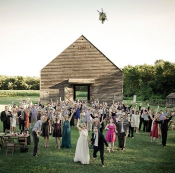 Best Place To Get Married In The Circa 1799 Barn Bridal Bouquet Gets A Sky High Toss During Reception Held At Photograph By