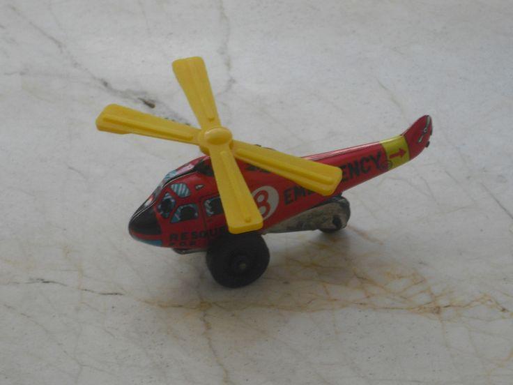 Blechspielzeug - Hubschrauber - Spielzeughubschrauber - ein Designerstück von allesfuermich bei DaWanda