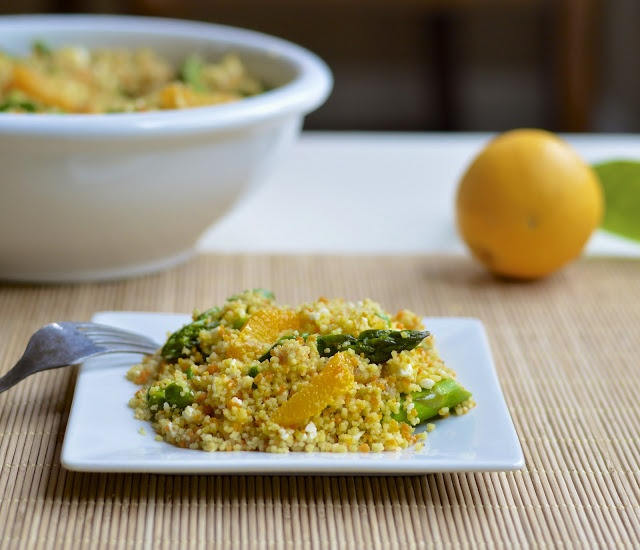Virtually Homemade: Spring Couscous Salad with a Citrus Vinaigrette