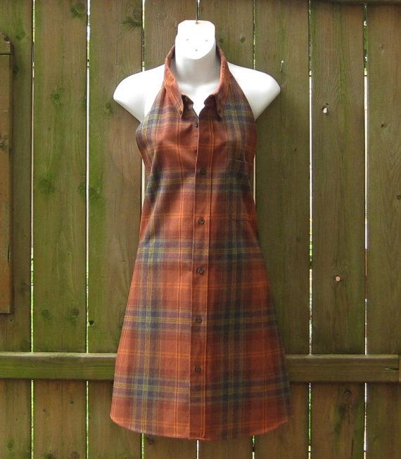 Upcycled Apron Workshop Apron Shirt Refashion by SewItWasByJudy