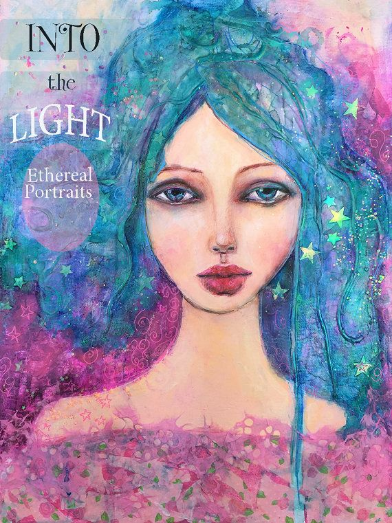 Into the Light  Ethereal Portraits Online Art Workshop by SuziBlu
