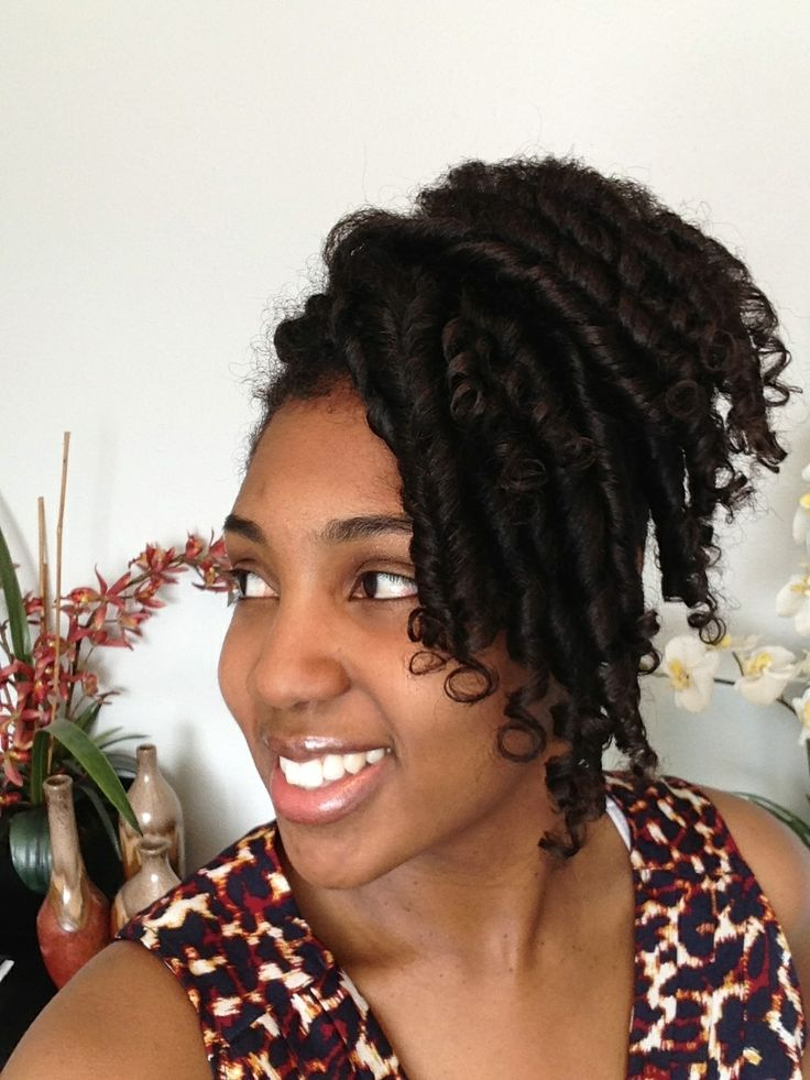 15 Ways To Wear An Inverted Braid.  Inverted Braid with Spiral Curls    I love spiral curls but I don't always have time to curl my entire head. Hey, I have a lot of hair. The inverted braid in the back was the perfect solution.  Photo Credit: Natural Hair Rules