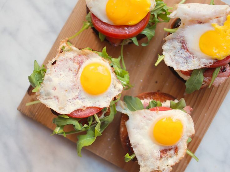 Breakfast PLT (Pancetta, Lettuce & Tomato) recipe from Giada De Laurentiis via Food Network