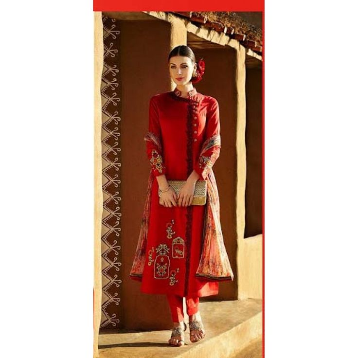 Beautiful Red Suit With Achkan Style Specially For Bridal