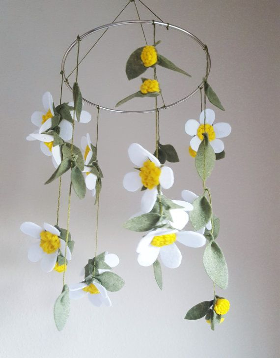 54 best images about diy felt baby mobiles on pinterest for Diy felt flower mobile