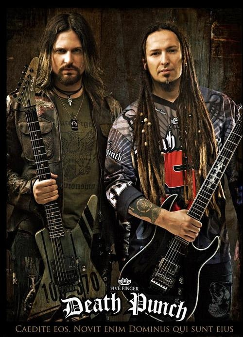 Jason Hook and Zoltan Bathory of Five Finger Death Punch