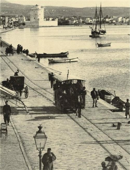 Thessaloniki. Seafront at the end of 19th century