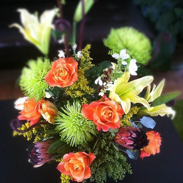 A romantic bouquet celebrating seven years of smiles.Everyday Bouquets, Bouquets Celebrities, Romantic Bouquets