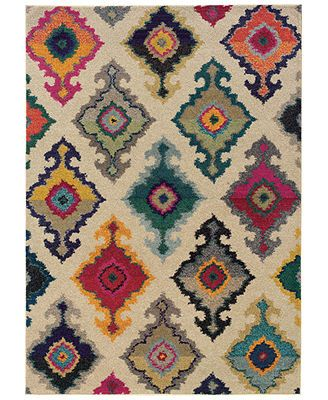"Macy's Sphinx Area Rug, Kaleidoscope 5990Y North Ivory 7'10"" x 10'10\"""