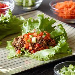 Photo de recette : Roulés de laitue asiatiques